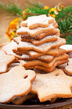 Homemade Christmas cookies Stock Images