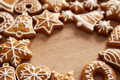 Homemade christmas cookies on table Royalty Free Stock Photo