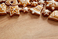 Homemade christmas cookies on table Royalty Free Stock Photography