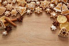 Homemade christmas cookies on table Stock Photo