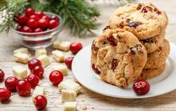 Homemade Christmas cranberry cookies Stock Photo