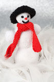 Homemade Christmas Crochet decoration Stock Image