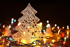 Homemade Christmas decorations Royalty Free Stock Image