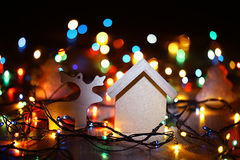 Homemade Christmas decorations Royalty Free Stock Photo