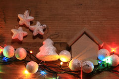 Homemade Christmas decorations Stock Images