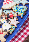 Homemade Christmas gingerbread cookies Royalty Free Stock Photography