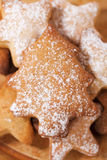 Homemade christmas gingerbread tree cookie Royalty Free Stock Photography
