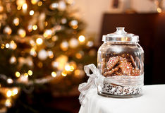 Homemade christmas gingerbreads Stock Image