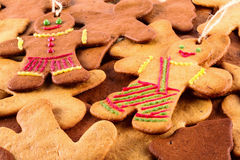 Homemade christmas gingerbreads and cingerbread mans, Christmas New Year background. Homemade christmas gingerbreads and cingerbread mans, Christmas or New Year Stock Photography