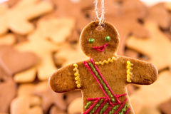 Homemade christmas gingerbreads and cingerbread mans, Christmas New Year background. Homemade christmas gingerbreads and cingerbread mans, Christmas or New Year Stock Photos