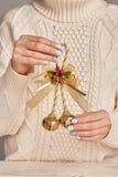 Homemade Christmas ornament stock image