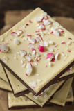 Homemade Christmas Peppermint Bark Dessert Royalty Free Stock Images