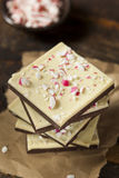 Homemade Christmas Peppermint Bark Dessert Stock Photos