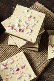 Homemade Christmas Peppermint Bark Dessert Stock Images