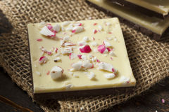 Homemade Christmas Peppermint Bark Dessert Royalty Free Stock Image