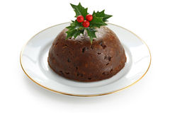 Homemade christmas pudding Stock Image