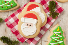 Homemade Christmas Sugar Cookies Stock Photos