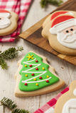 Homemade Christmas Sugar Cookies Stock Images