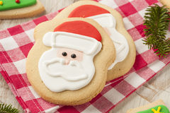 Homemade Christmas Sugar Cookies Royalty Free Stock Photos