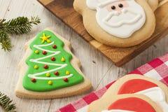 Homemade Christmas Sugar Cookies Royalty Free Stock Photography