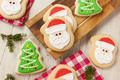 Homemade Christmas Sugar Cookies Stock Image