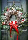 Homemade christmas wreath Stock Images