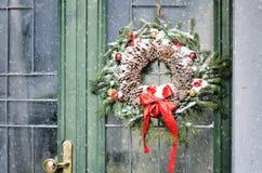 Homemade christmas wreath Stock Photography