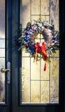 Homemade christmas wreath Stock Images