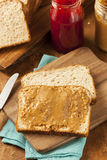 Homemade Chunky Peanut Butter Sandwich Royalty Free Stock Photography