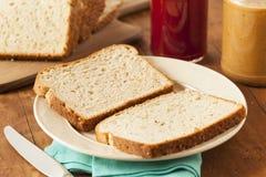 Homemade Chunky Peanut Butter Sandwich Stock Photos