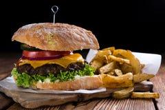 Homemade Ciabatta Beef Burger Royalty Free Stock Photo