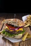 Homemade Ciabatta Beef Burger Royalty Free Stock Image