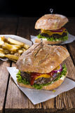 Homemade Ciabatta Burger Stock Photography