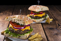 Homemade Ciabatta Burger Stock Images