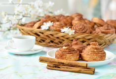 Homemade cinnamon buns cakes Stock Photography