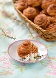 Homemade cinnamon buns cakes Royalty Free Stock Image
