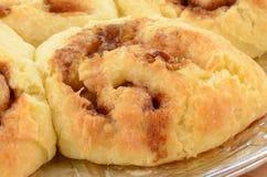 Homemade cinnamon buns closeup Royalty Free Stock Photography