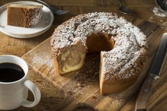 Homemade Cinnamon Coffee Cake. With Powdered Sugar Royalty Free Stock Photography