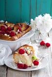 Homemade cinnamon raspberry rolls Stock Photos