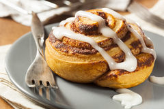 Homemade Cinnamon Roll Pastry Stock Images