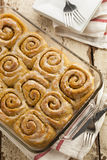 Homemade Cinnamon Roll Sticky Buns Stock Images