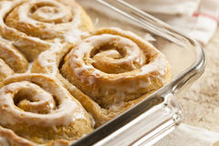 Homemade Cinnamon Roll Sticky Buns Stock Image