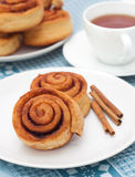 Homemade cinnamon rolls Royalty Free Stock Photo