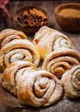 Homemade cinnamon rolls Stock Image