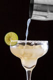 Homemade classic margarita with lime and salt Stock Photo