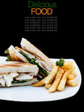Homemade club sandwiches Royalty Free Stock Photography