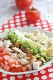 Homemade cobb - salad with eggs stock photos