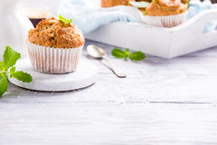 Homemade coconut cinnamon muffins Stock Image
