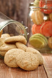 Homemade coconut meringue macaroon cookie in the jar Royalty Free Stock Photo