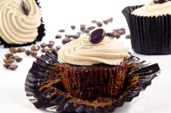 Homemade coffee cupcakes Stock Images